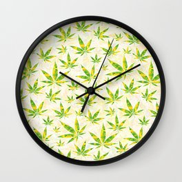 Weed OG Kush Pattern Wall Clock