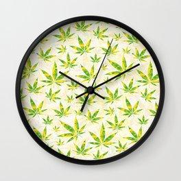 Weed OG Kush Pattern Wall Clock