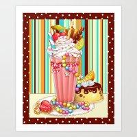 Milkshake Sweetheart Art Print