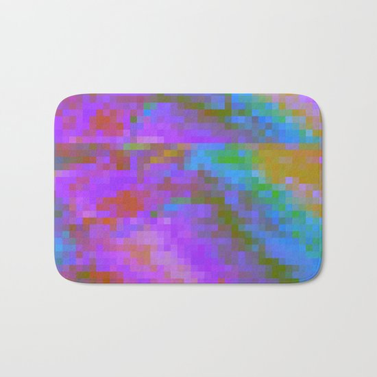 RAINBOW GLITCH ART Bath Mat