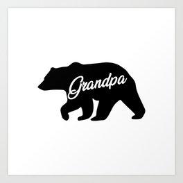 Grandpa Bear Awesome Camping Gramps Matching Gift Art Print
