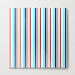 haberdashery stripes Metal Print