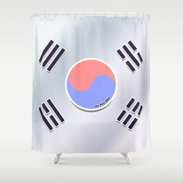 Korean Flag Shower Curtain