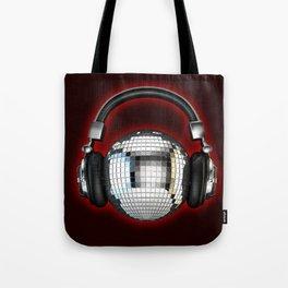 Headphone disco ball Tote Bag