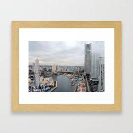 A Cloudy Yokahama Morning Framed Art Print
