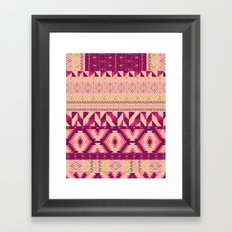 Geo Patched Framed Art Print
