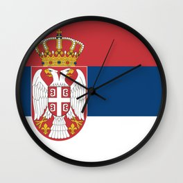 Flag of Serbia - Serbian Flag Wall Clock
