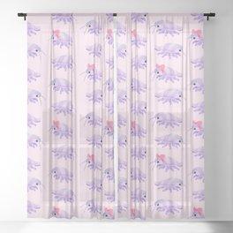 Ribbon giant isopod Sheer Curtain