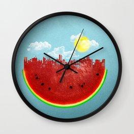Watermelon City Wall Clock