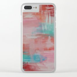Abstract Wall Art Clear iPhone Case