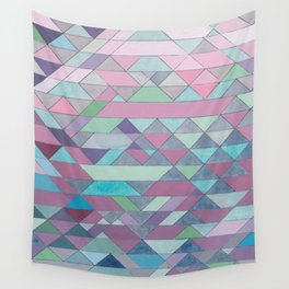 Triangle Pattern no.3 Violet Wall Tapestry
