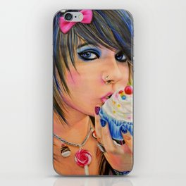 Make Cupcakes Not War iPhone Skin