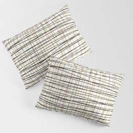 Line Art - Gold and Black Lines on White - Mix and Match with Simplicty of Life Pillow Sham