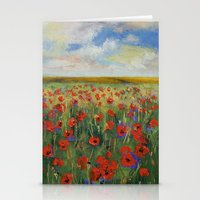poppies Stationery Cards featuring Poppies by Michael Creese