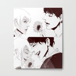 Sunflower kiss Metal Print