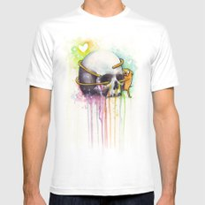 Jake and Skull MEDIUM White Mens Fitted Tee