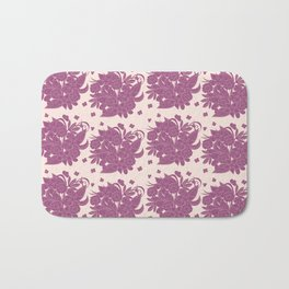 boho floral pattern violet monochrome Bath Mat