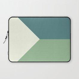 Green Blue Cream Abstract Geometric Art Laptop Sleeve