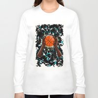 basketball Long Sleeve T-shirts featuring  BasketBall  by Marven RELOADED