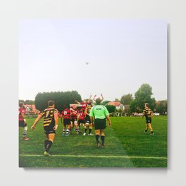 Rugby match Metal Print