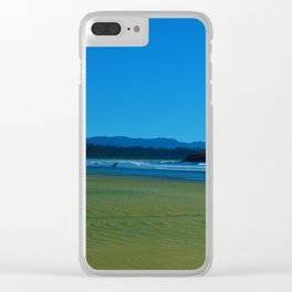 Surfers of Tofino, Long Beach Vancouver Island Clear iPhone Case