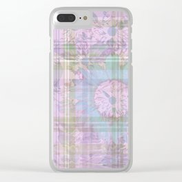 Pastel Flower Digital Collage Clear iPhone Case