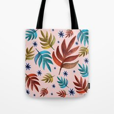Stars and leafs Tote Bag