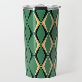 Art Deco Green & Gold Travel Mug