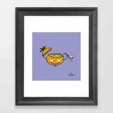 Pineapple Curry Framed Art Print