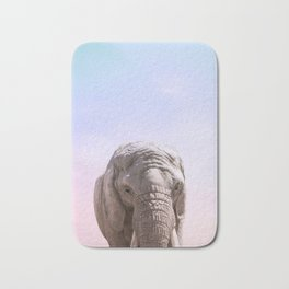 Elephant Photography and Sunset | Wildlife Art | African Bath Mat