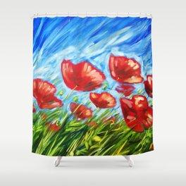 Wild Poppies by Ira Mitchell-Kirk Shower Curtain