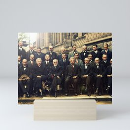 Solvay Conference 1927 Einstein Scientists Group Mini Art Print