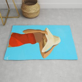 At The Beach: Red Suit Rug