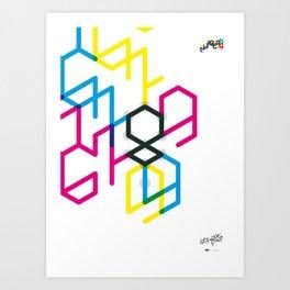 Number eight Art Print