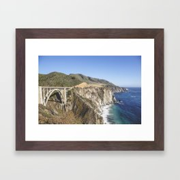 Pacific Coast Highway Framed Art Print