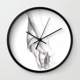 Hands Drawing Wall Clock