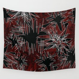 Red Chaos Wall Tapestry