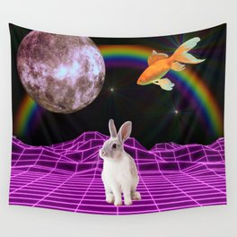Vaporwave bunny Wall Tapestry