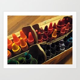 In the Crayon Box Art Print