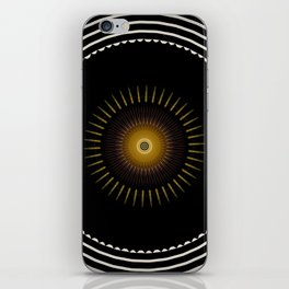 Modern Circular Abstract with Gold Mandala iPhone Skin