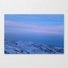 Snowy Mountain Climb Canvas Print