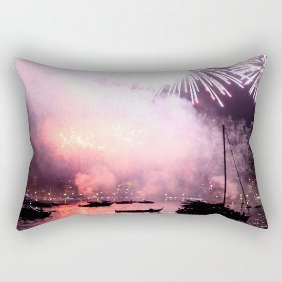 Fireworks on the harbour  Rectangular Pillow