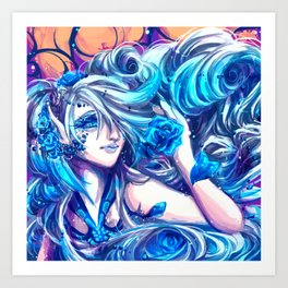 Azula- Rose Fairy Art Print