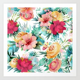 Bright and Bold Flowers Art Print
