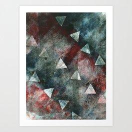 Dark Triangles Art Print