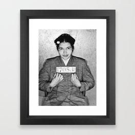 Rosa Parks Mugshot Framed Art Print