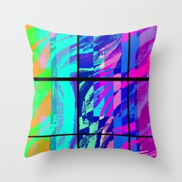 Segments In Light Throw Pillow