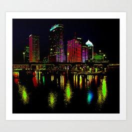 Colored lights Art Print