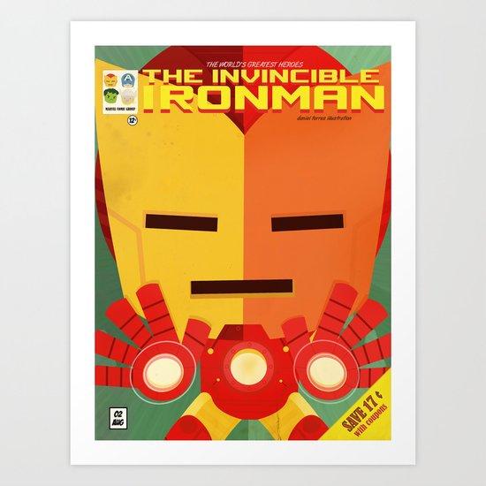 ironman fan art Art Print