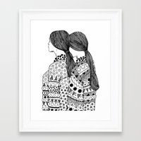 twins Framed Art Prints featuring Twins by La Thai